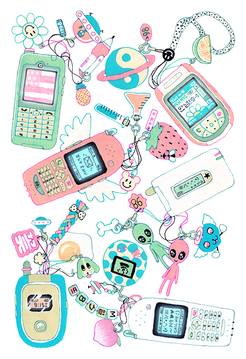 Drawing collages wallpaper. Blippo com kawaii