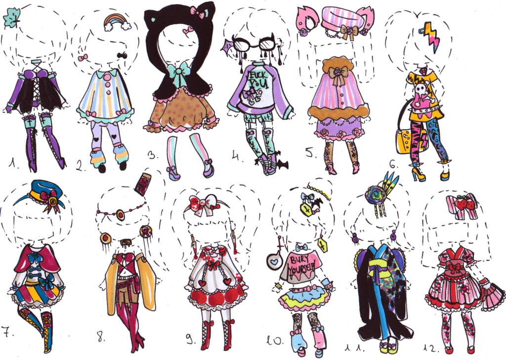 Drawing collarbones feminine. Closed outfit adopts by