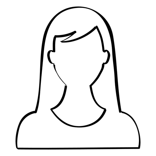 Drawing collarbones woman's neck. Hand drawn female avatar