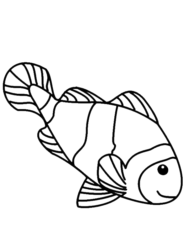 Drawing coloring. Fish for colouring at