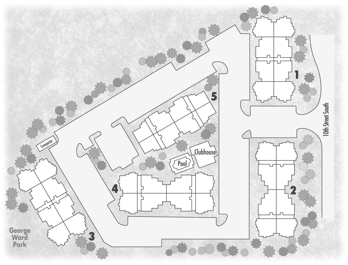 Drawing community. Overview crowne on tenth