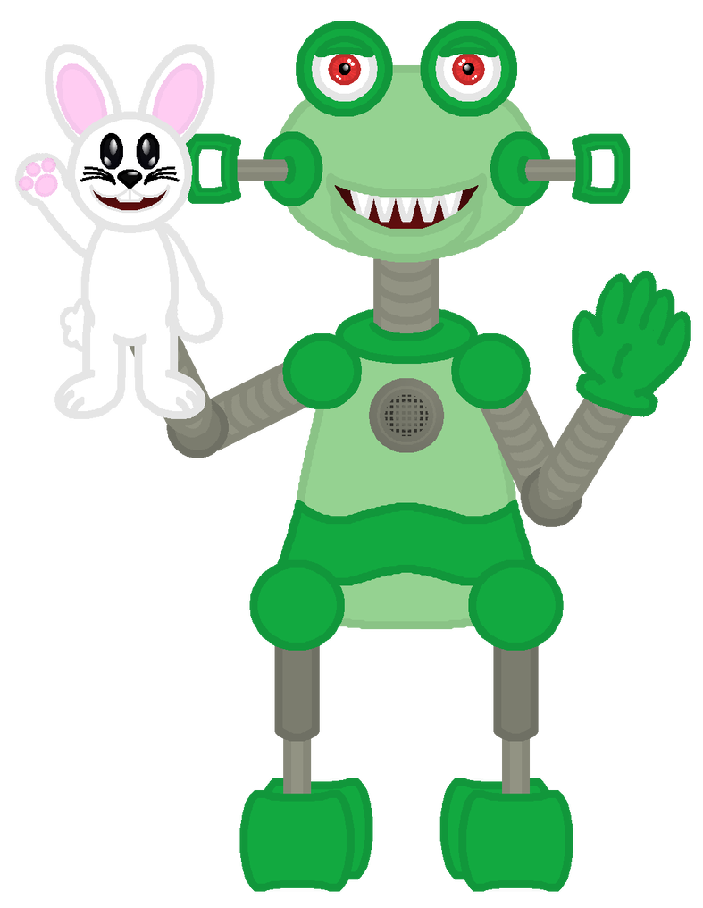 Drawing comparisons animatronic. Clancer and fluffy by
