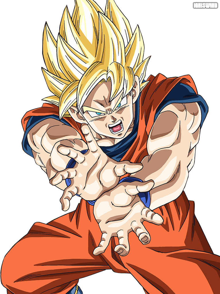 Drawing comparisons dragon ball z. Goku con pugno cerca