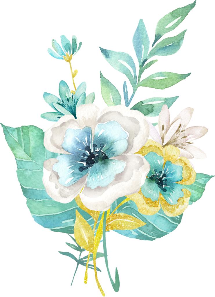 Drawing compositions flower. Mint gold png pinterest