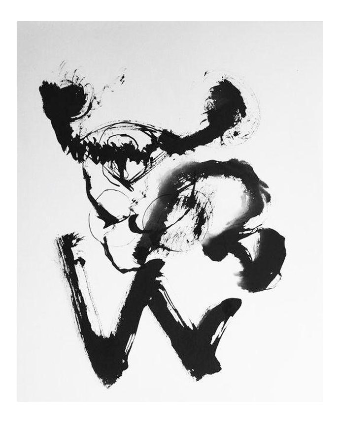 Drawing compositions ink. S abstract brush