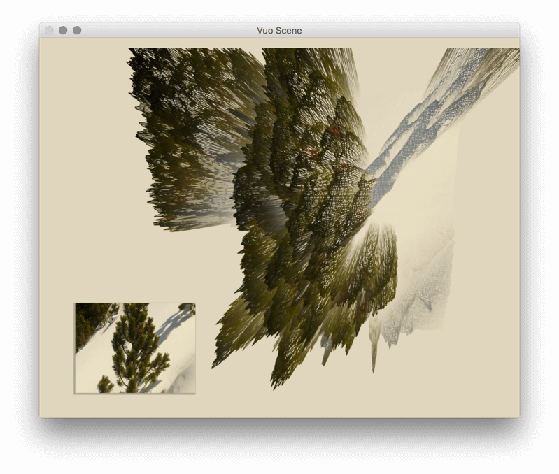 Drawing compositions nature. New vuo composition from