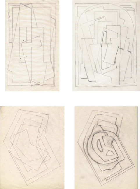 Drawing compositions nature. Mainie jellett single element