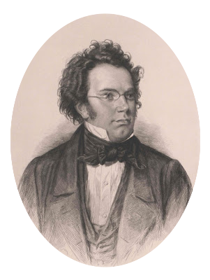 Drawing compositions self portrait. Franz schubert music for