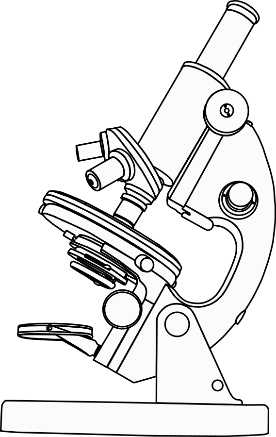 Drawing compound binocular. Images of microscope spacehero