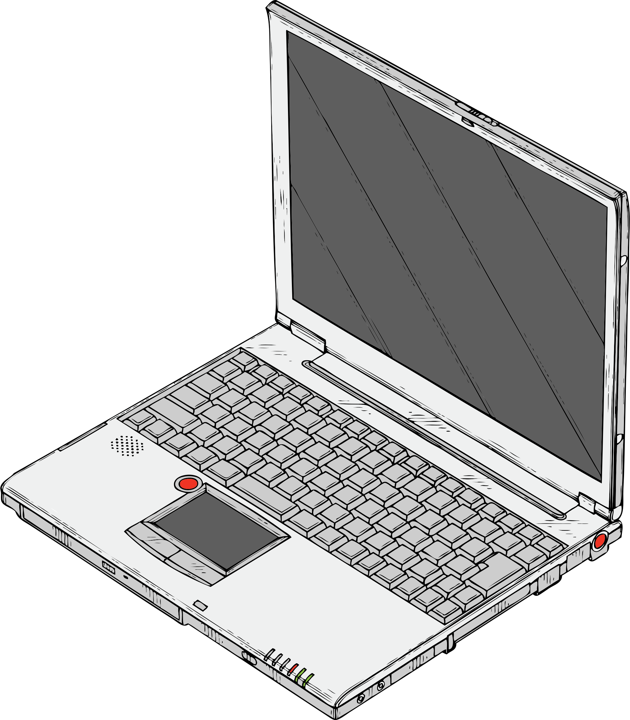 Drawing computers laptop. Computer for free