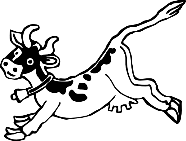 Drawing cow jumping. Clip art at clker