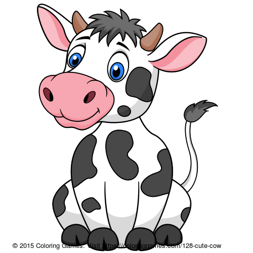 Drawing cow colour. Cute coloring coloringgames craf