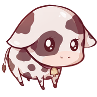 Drawing cow kawaii cute. By dessineka so i
