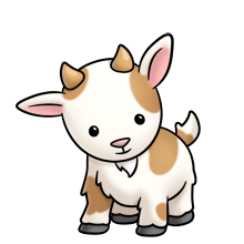 Drawing cow cute baby. Goat clip art farm