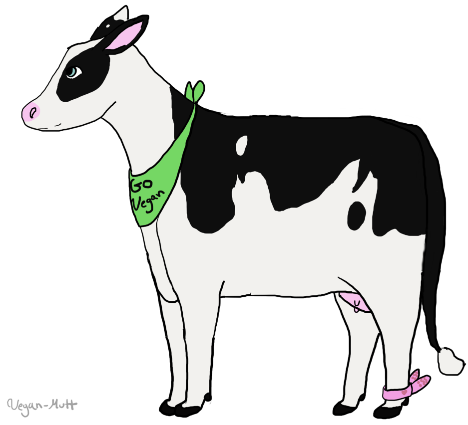 Drawing cow dying. Go vegan by veganempress