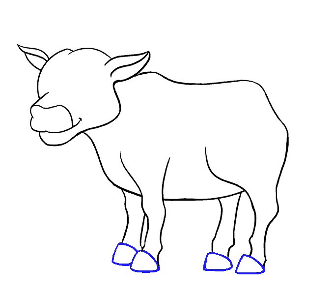 Drawing cow easy. How to draw a