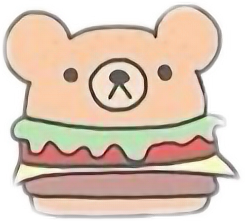Drawing cow kawaii cute. Drawings of food hamburger