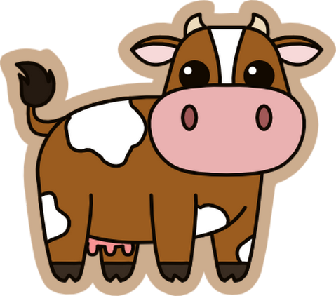 Drawing cow kawaii cute. Pin by annick delteil