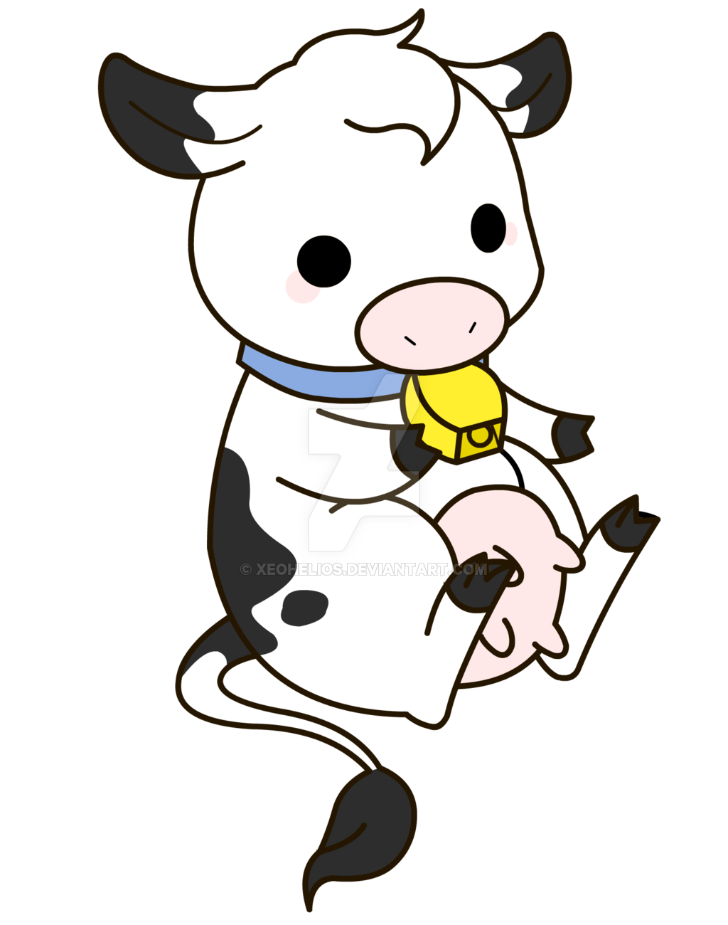Drawing cow kawaii cute. Jpg royalty free
