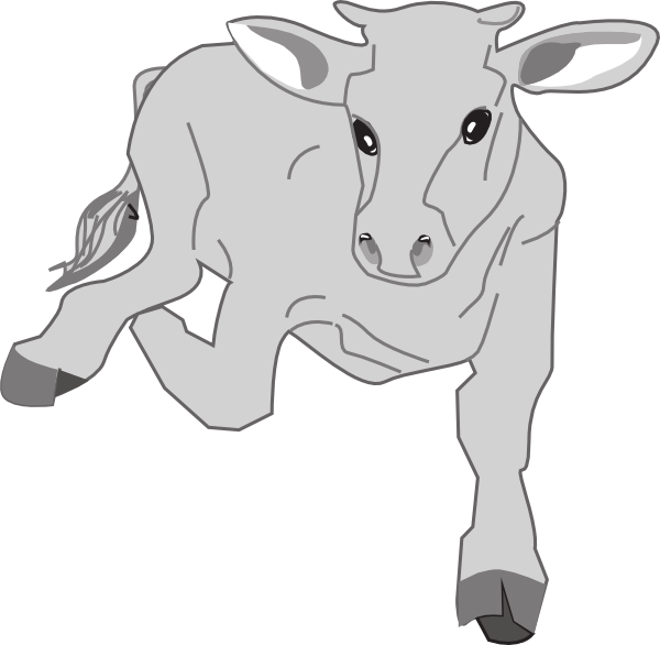 Drawing cow running. Clip art at clker