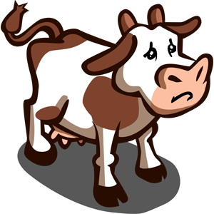 Drawing cow sad. Farmville experiences loading issues