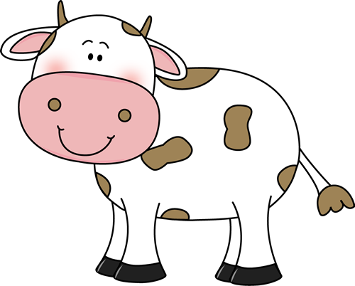 Drawing cow spot. Clip art with brown