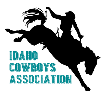 Idaho drawing silhouette. Cowboys association home picture