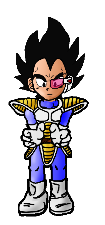 Drawing cowboys dragon ball z. Vegeta by flip reaper