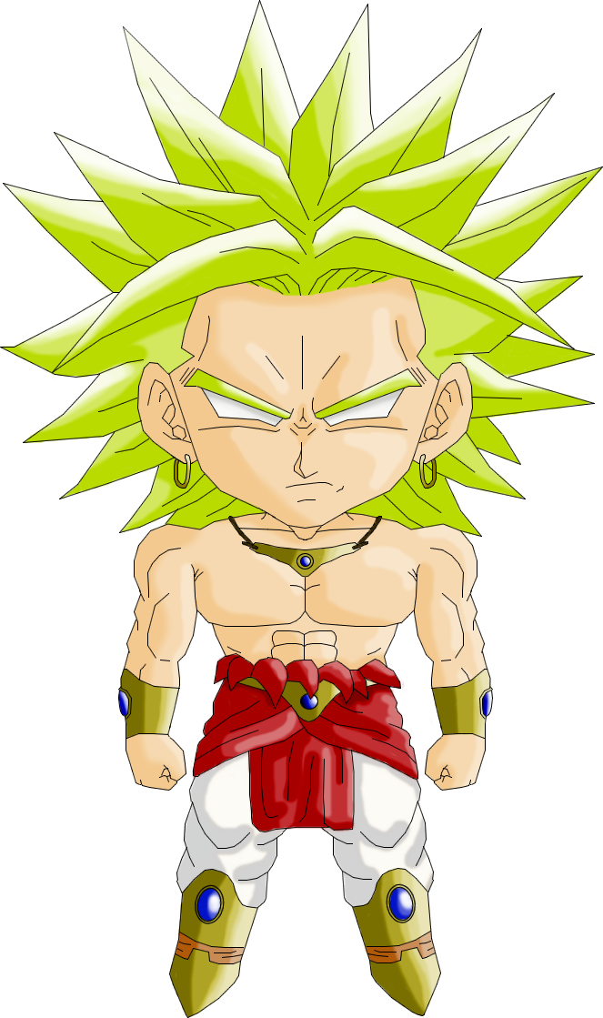 Drawing cowboys dragon ball z. Personajes chibi de broly