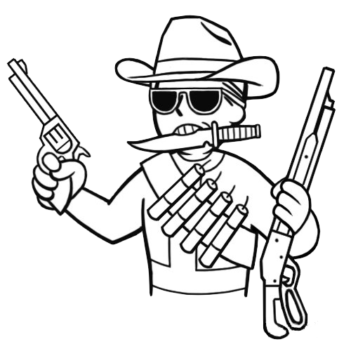 Dynamite transparent fallout new vegas. Cowboy drawing easy at