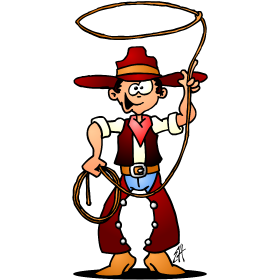 Drawing cowboys official. Cowboy full color drawings