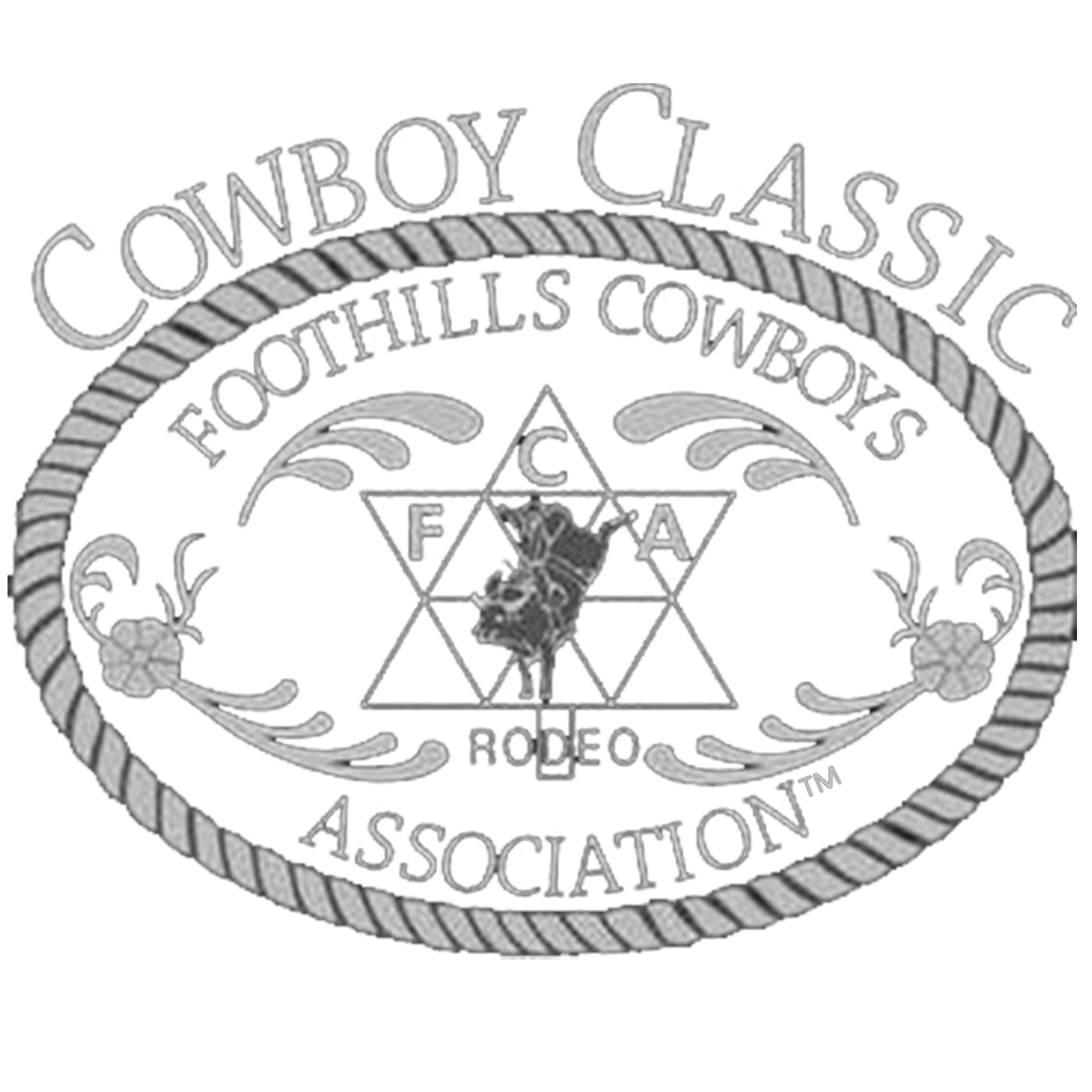 Golfer drawing rodeo. Foothills cowboys association