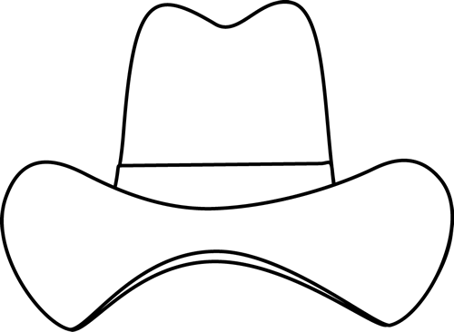 Drawing cowboys template. Black and white simple