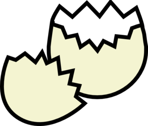 Drawing egg cracked. Bone clipart free on