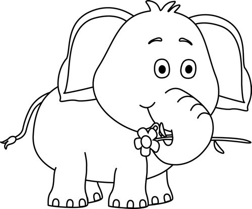 Rebel drawing black and white. Cute elephant drawings with