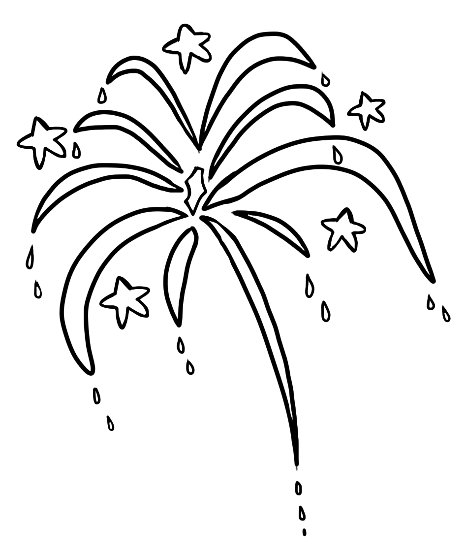Drawing crafts firework. Fireworks line at getdrawings