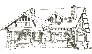 Old drawing architectural. Collection of craftsman