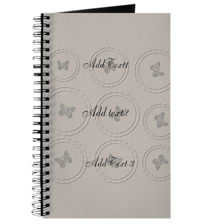 Drawing journals cute. Silver grey butterfly holiday