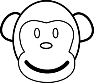 Drawing crafts paper plate. Monkey face clip art