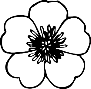Drawing crafts simple flower design. More templates flowers and