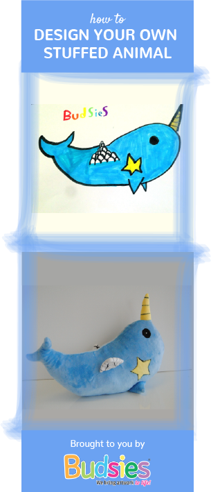 Drawing crafts toy. Drawings into custom stuffed