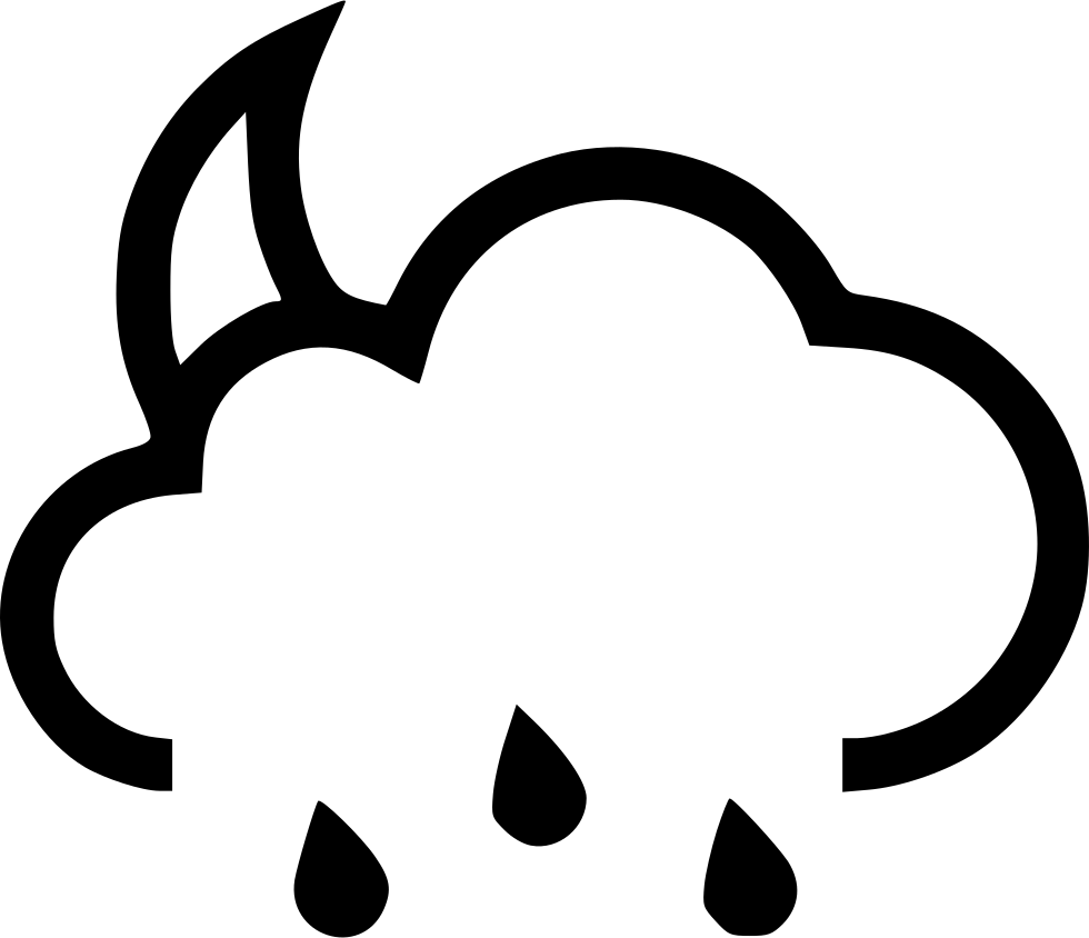 Drawing creatively rain. Moon svg png icon