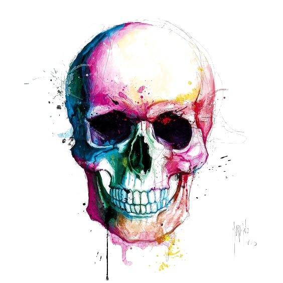 drawing creatively skull