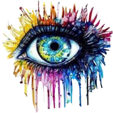 Drawing creativity eye. Sticker challenge on picsart