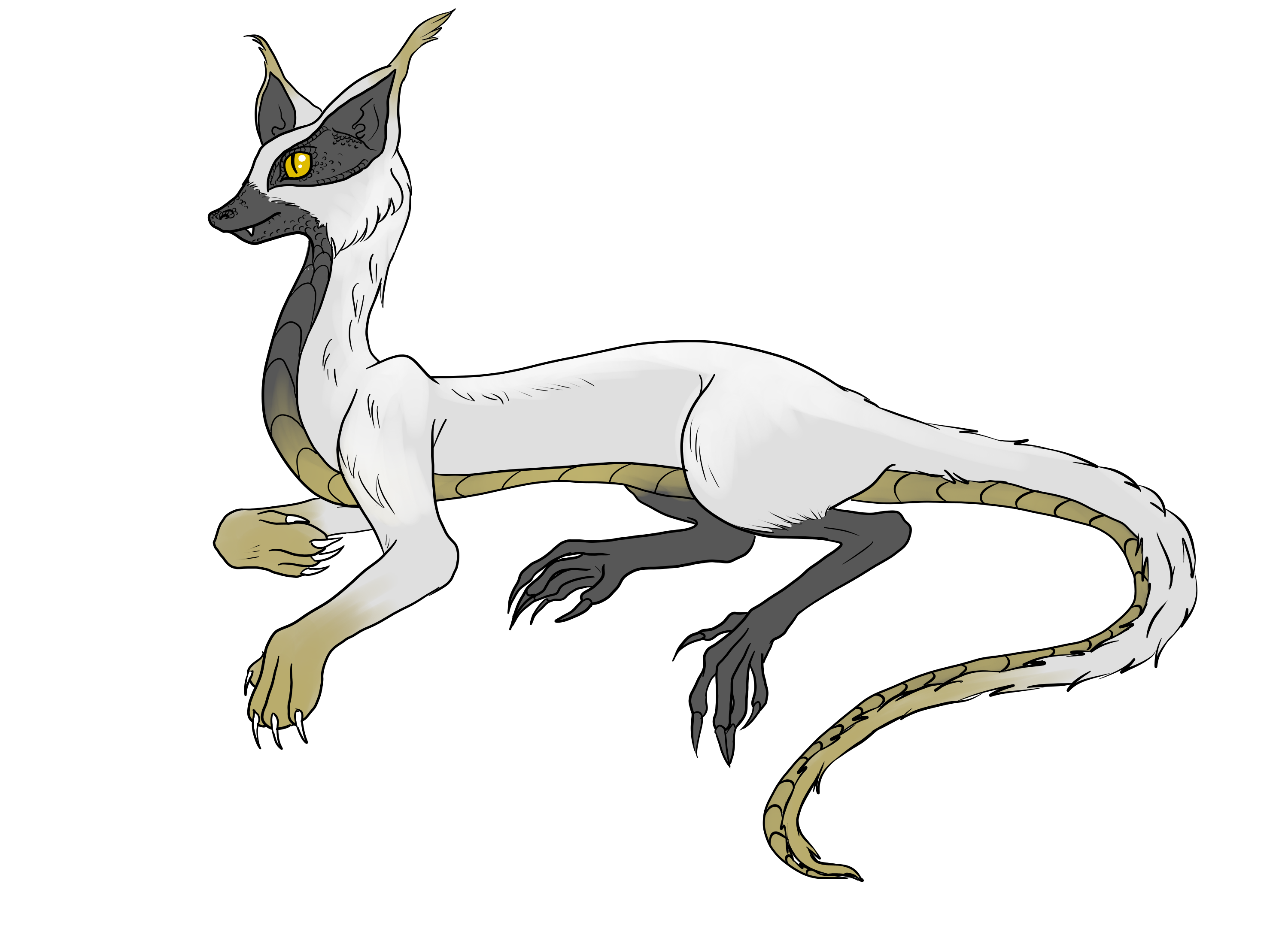 Drawing creatures made up. Fionlagh or fion shortly