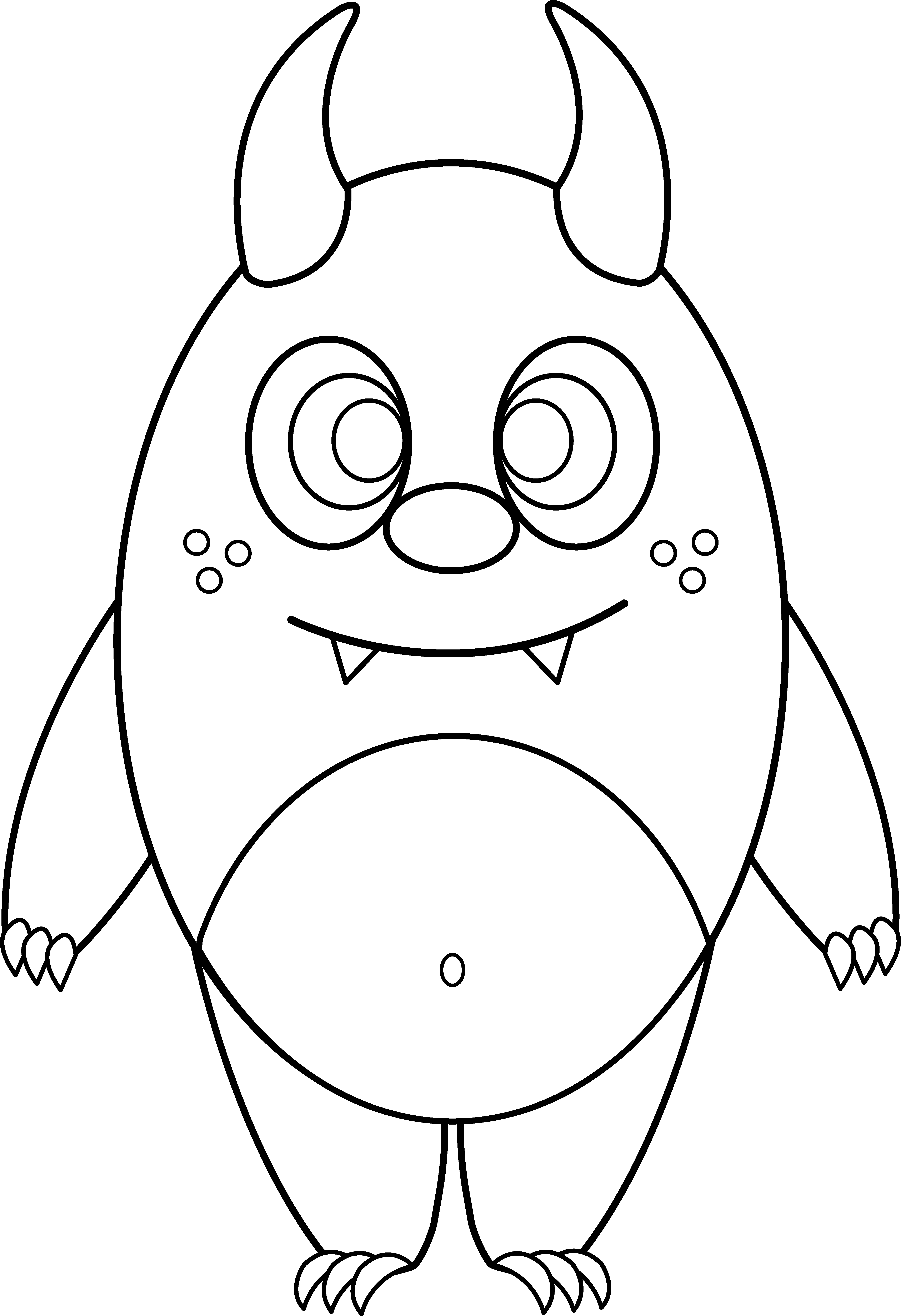 Drawing creatures monster. Line at getdrawings com