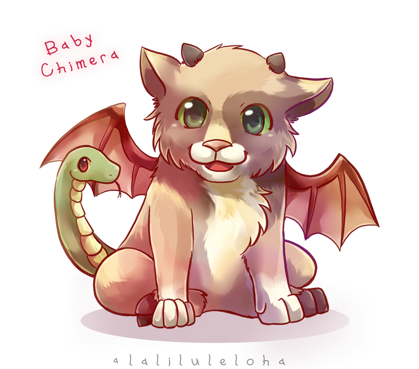 Drawing creatures mythical creature. Myth babies chimera by