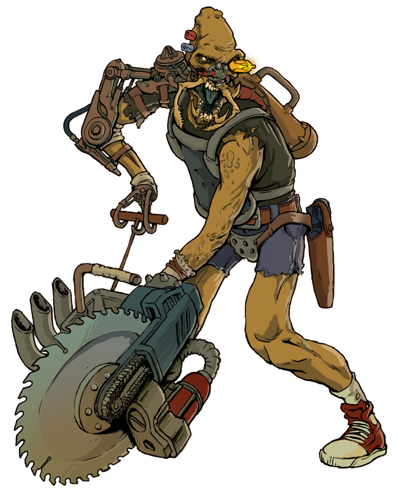 Wastelands mutant by killkennykat. Drawing creatures sci fi svg transparent download
