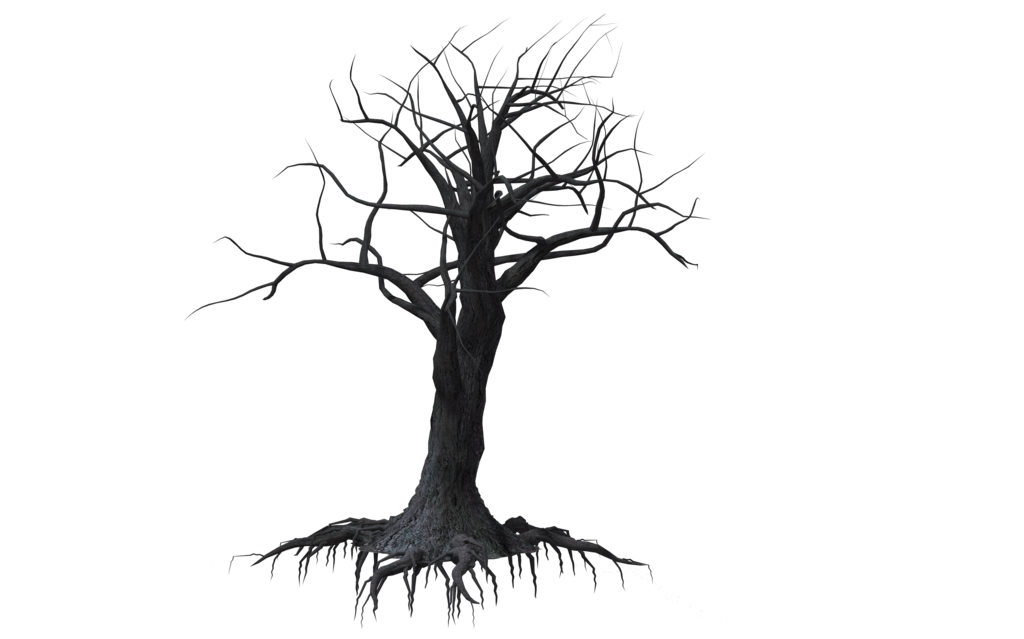 Drawing creepy. Tree by wolverine ravens