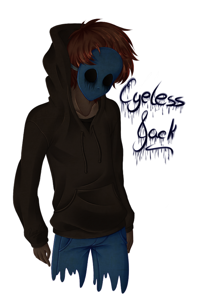 Drawing creepy eyeless jack. By pure love g